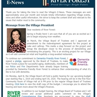 April 2019 E-News Now Available!