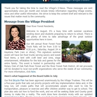 August 2019 E-News Now Available!