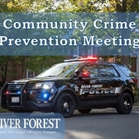 Join us April 24 for the Quarterly Community Crime Prevention Meeting