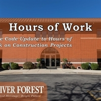 Modification to Hours of Work for Construction Projects