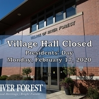 Presidents' Day Holiday - Village Hall CLOSED
